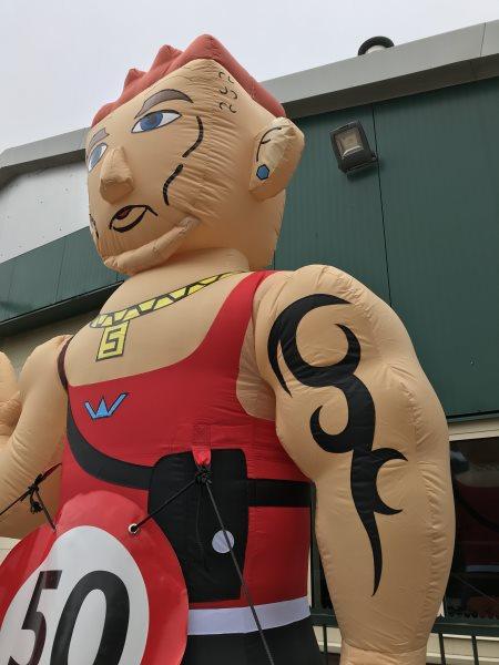 Opblaasbare Aso Man 50 jaar