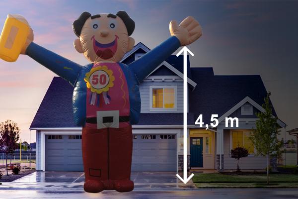 Abraham pop feest 4,5 meter hoog