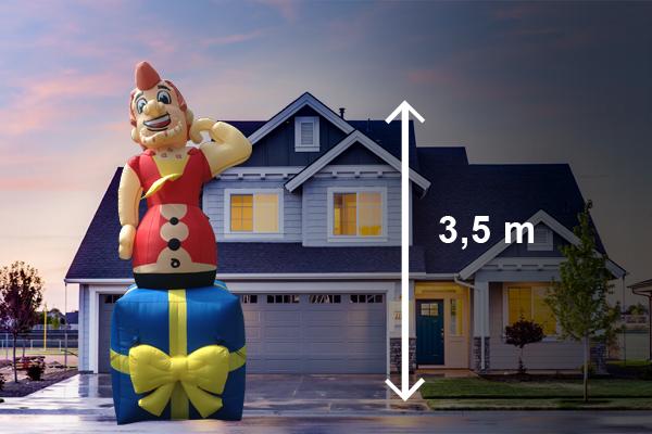 Abraham pop jong 3,5 meter hoog