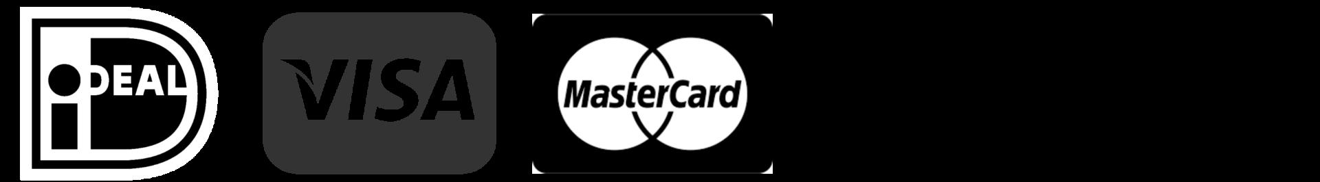 Betaalmogelijkheden: iDeal, VISA, Mastercard, American Express, Bankoverschrijving