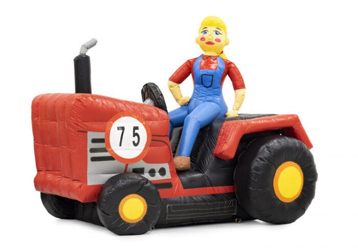 opblaas sarah op tractor