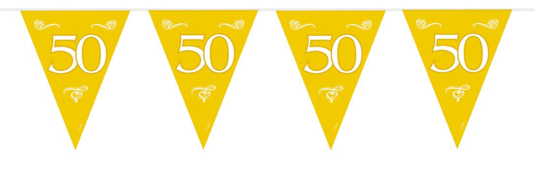 50 jaar vlaggetjes