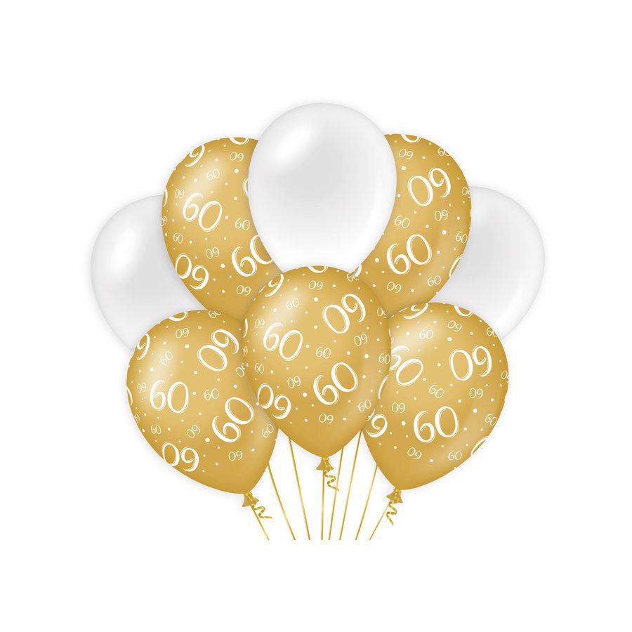 luxe witte en gouden ballonnen voor 60 jaar
