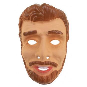 abraham masker jong met bruin haar en baard