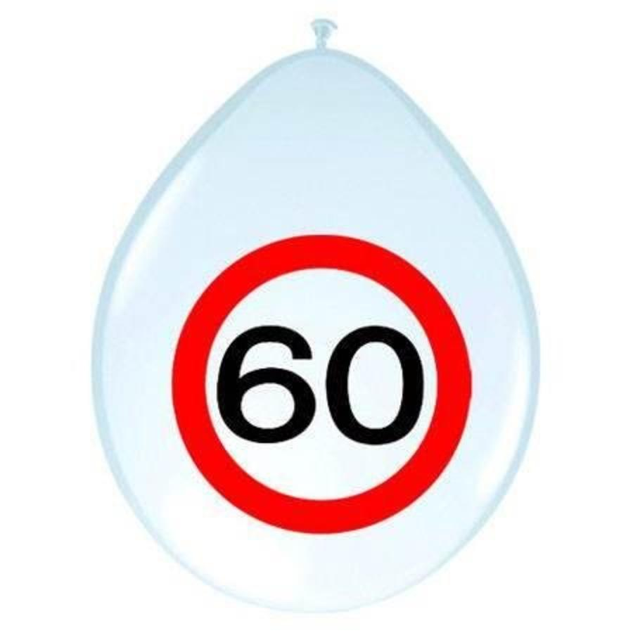 60 jaar verkeersbord ballonnen