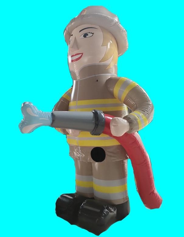 sarah opblaaspop brandweervrouw + 50 jaar